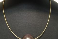 Omegareif Silber vergoldet mit Glasperle